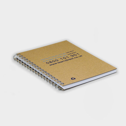 A6 Wirebound Natural Board Notebook – Recycled
