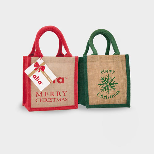Wells Christmas Jute Bag