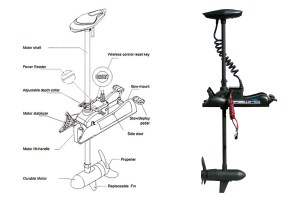 Bow mount Trolling Motor Cayman 80 lbs Electric HASWING