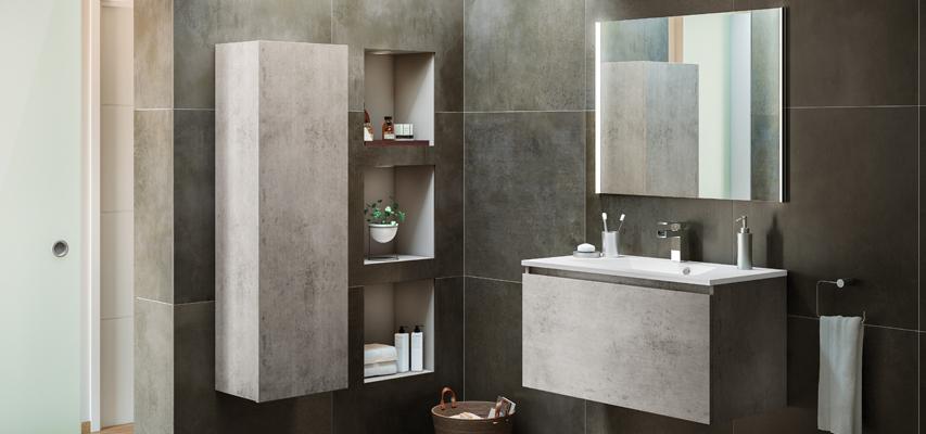 meuble de salle de bain mineral