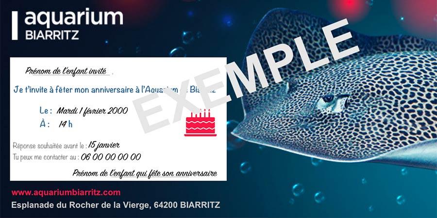 invitation anniversaire aquarium