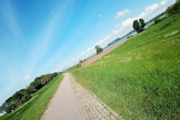 Dijklandschap is prachtig om hard te lopen.