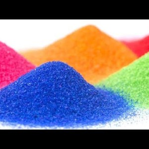 Färgade sand