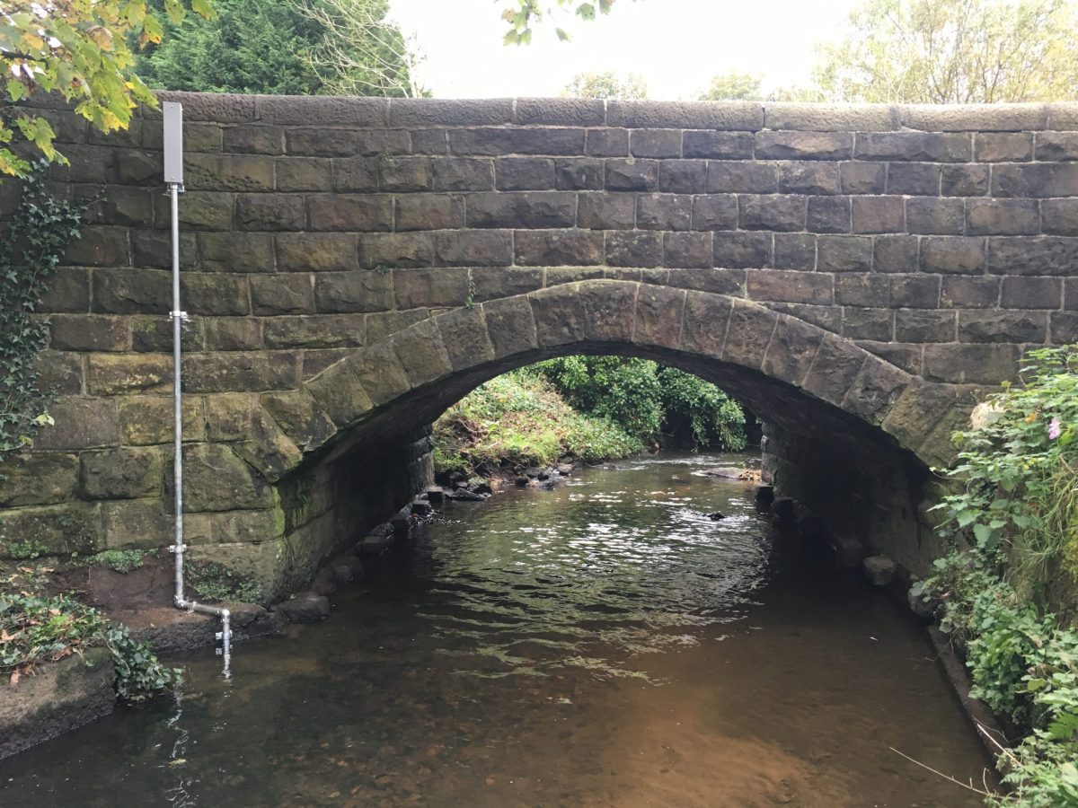 Telemetered flood warning system