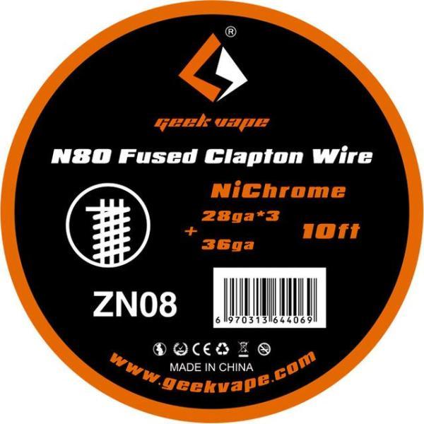 GeekVape Ni80 Fused Clapton Wire 28GA*3+36GA