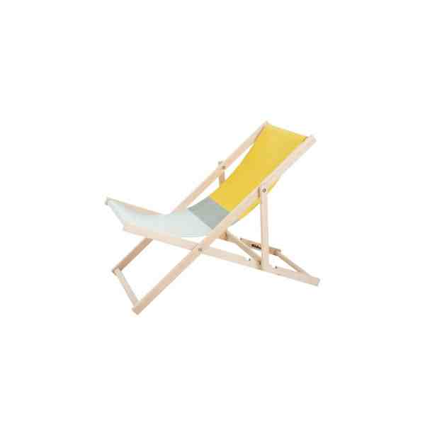 Beachchair geel blauw