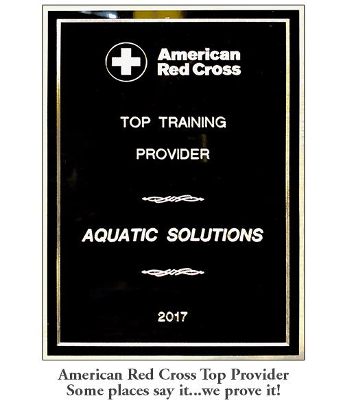 Aquatic Solutions American Red Cross Awards