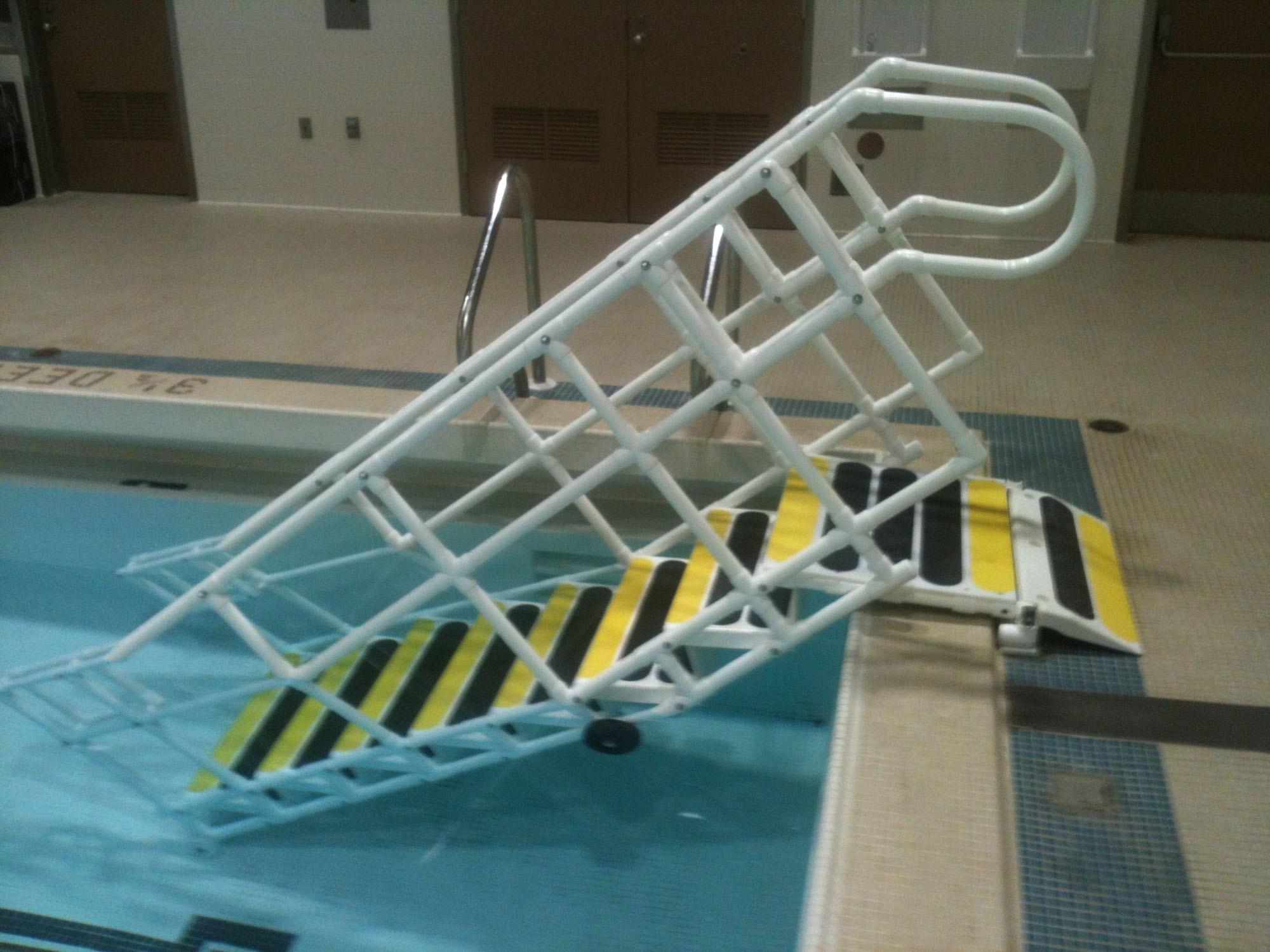 Aquatrek Ada Pool Steps | Handicap Rails For Steps | Grab Rail | Deck | Porch Railing | Bed Rails | Activated Led