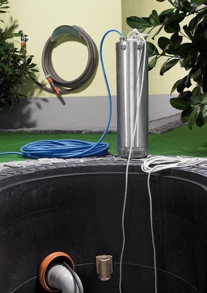 Installation d'une pompe immergée de puits