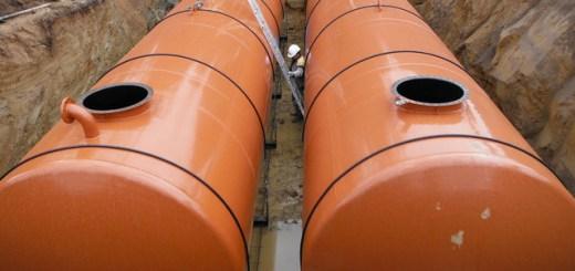 Cuve de récupération d'eau pluviale en acier