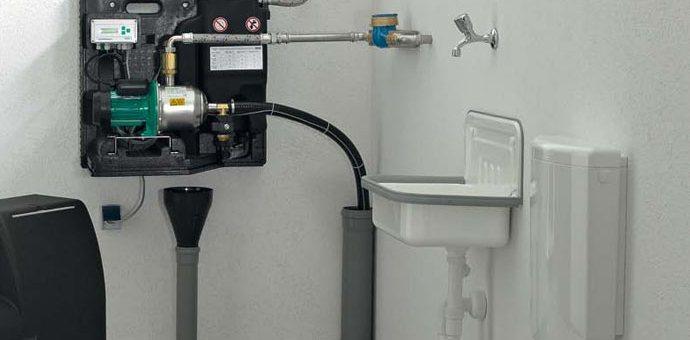 Pompe gestionnaire d'eau de pluie