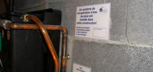 Réglementation et norme sur la récupération d'eau de pluie