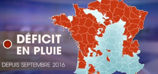 Sécheresse 2017 - Carte de France