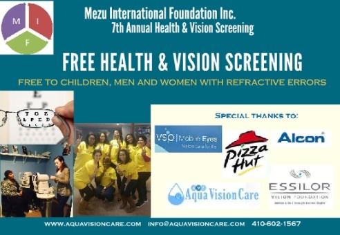 2018 MIF Vision & Health Fair – Baltimore, MD USA