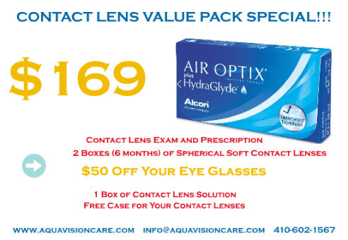 Contact Lens Value Pack Special – Air Optix