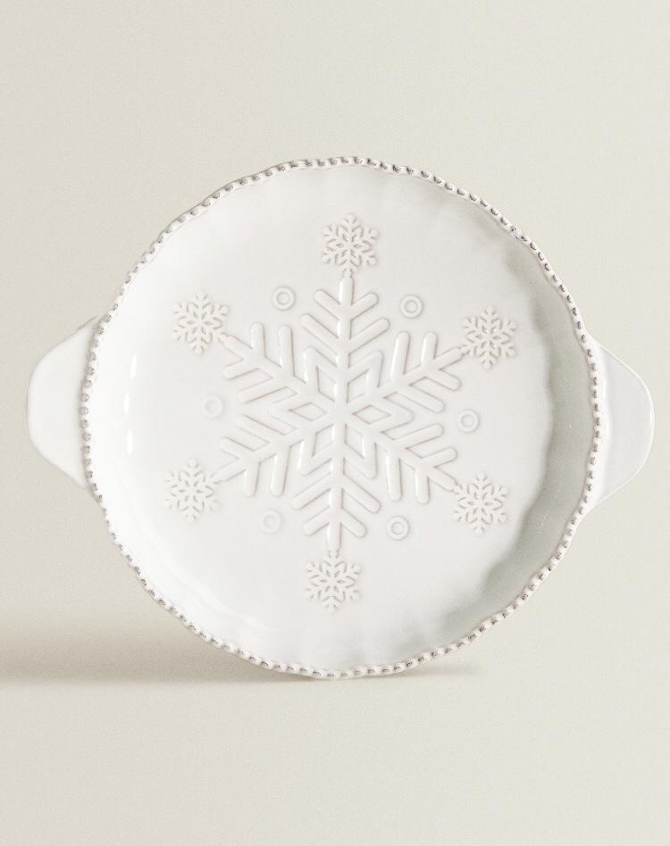 Fuente Asas Relieve Copo Nieve de Zara Home