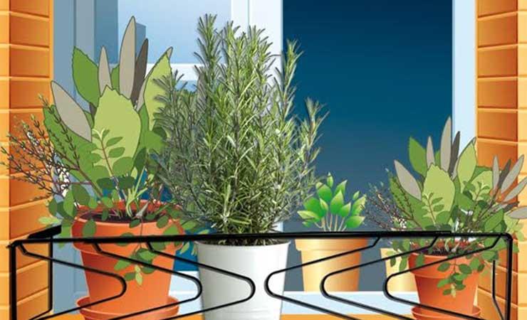 instalar un accesorio para jardineras en ventana
