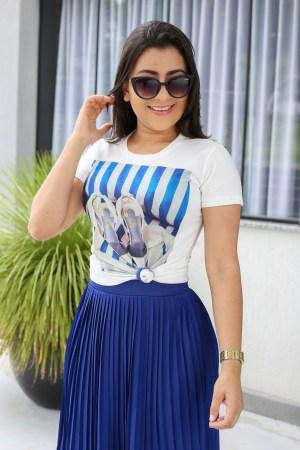 T-shirt Listras Azuis