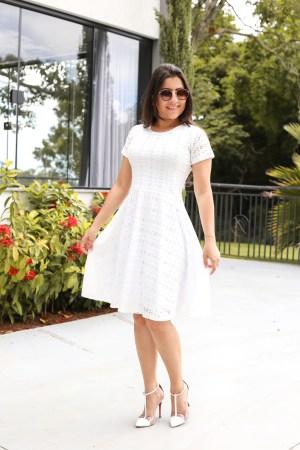 Vestido Godê Lasie Branco