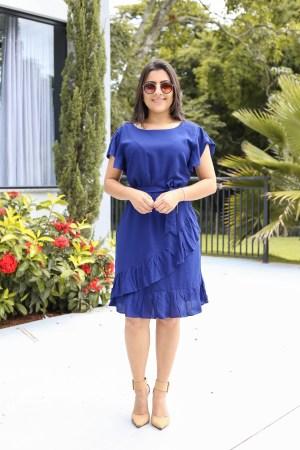 Vestido Viscose Azul