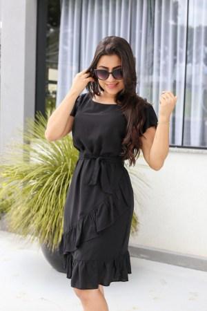Vestido Viscose Black
