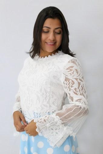 Blusa Renda em Áquila Tauheny Store | Moda Evangélica