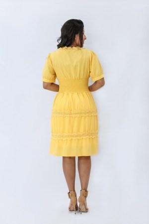 Vestido Amarelo Godê