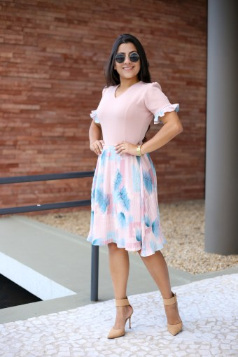 Vestido Plissado Maria Amore em Áquila Tauheny Store | Moda Evangélica