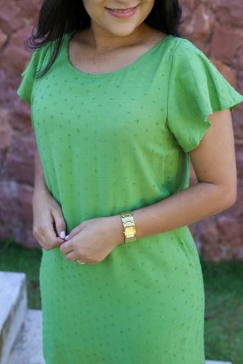 Vestido Viscose Verde em Áquila Tauheny Store | Moda Evangélica
