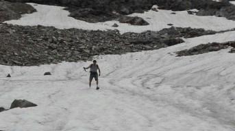 Discesa da nevaio con adeguata tenuta