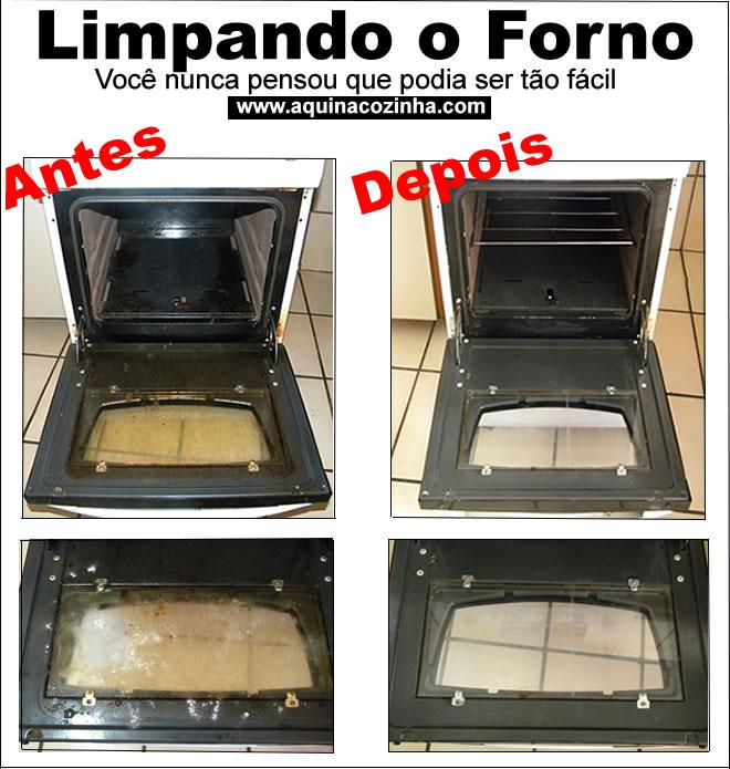 Limpando o forno