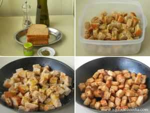 Como fazer croutons