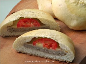 Pão de Hambúrguer Recheado