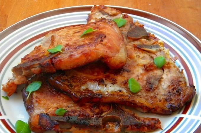 Bisteca de Porco feita no forno
