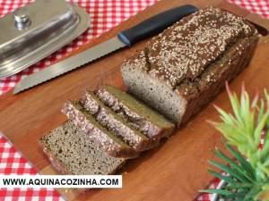 Pão low de farinha de berinjela