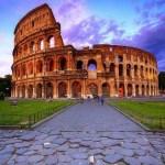 المدرج الروماني الكولوسيوم الشهير فى روما ايطاليا