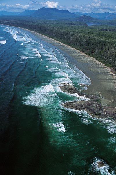 الحديقة الوطنية المطلة على المحيط الهادى