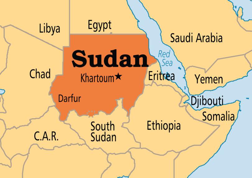 خريطة السودان