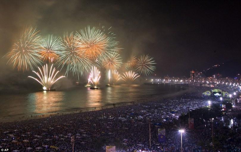 أحتفالات البرازيل ليلة رأس السنة 2017