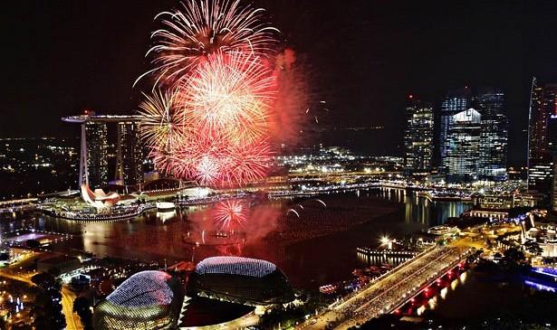 احتفالات سنغافورة برأس السنة 2017