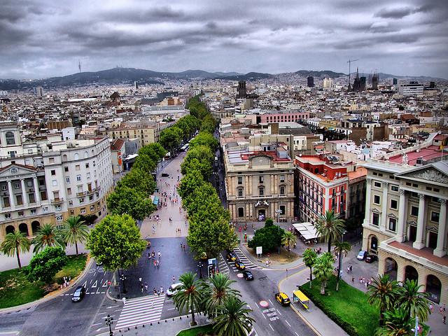 شارع las ramblas