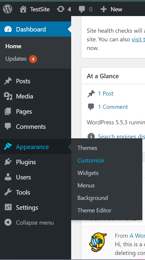 إضافة أكواد CSS للووردبريس 1