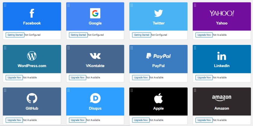 تسجيل الدخول إلى مواقع ووردبرس باستخدام 12 موقع مختلف