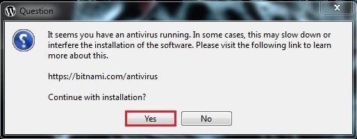 4 برنامج مكافحة الفيروسات برنامج BITNAMI WORDPRESS STACK