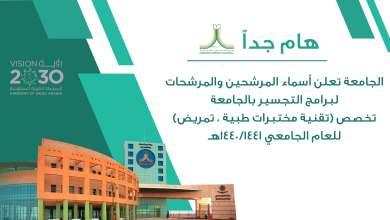 Photo of جامعة الحدود الشمالية تعلن أسماء المرشحين والمرشحات لبرامج التجسير