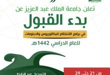 Photo of جامعة الملك عبدالعزيز تعلن مواعيد القبول لبرامج البكالوريوس والدبلومات