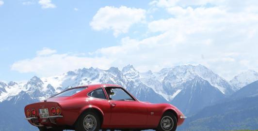 Vista posterior Opel GT