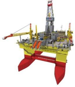 Semi Submersible offshore drilling rig