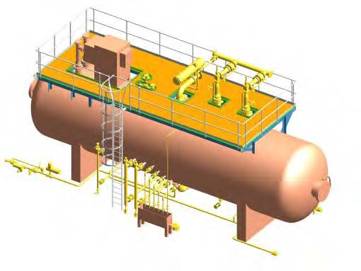 wet crude treatment vessel