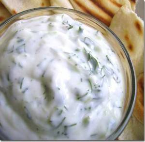 Khyar wa Laban - Garlic Cucumber Yogurt Salad